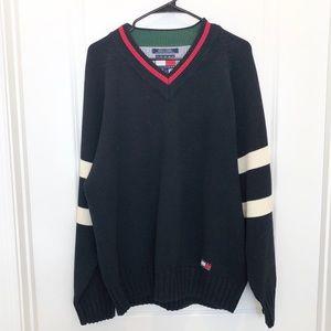 Retro 90's Tommy Hilfiger V Neck Sweater Size L
